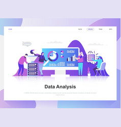 data analysis modern flat design concept vector image