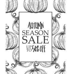 design poster big autumn sale vector image