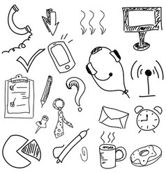 drawn picture with headphones vector image