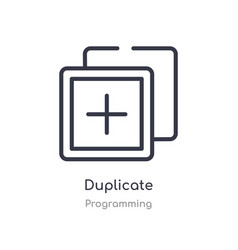 Duplicate outline icon isolated line from vector