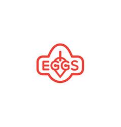 eggs logo vector image