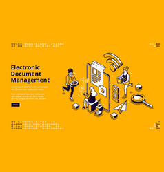 Electronic document management banner vector