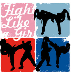 Fight like a girl vector