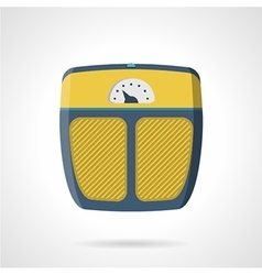 Flat icon for weigh scale vector