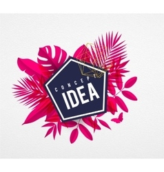 Frame floral idea pink vector image