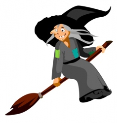 funny witch vector image