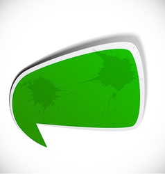 Green grunge speech label design vector image vector image