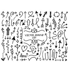 hand draw arrow set 4 vector image
