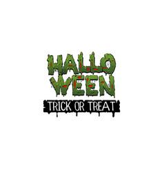 happy halloween party comic text font pop art vector image