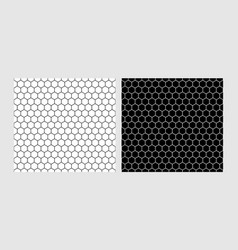 hexagon seamless patterns texture the vector image