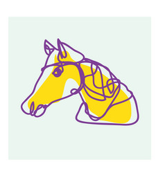 Horse line art drawing for logo vector