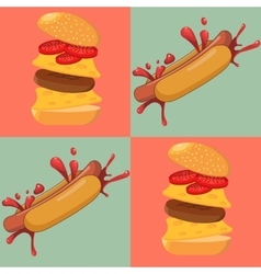 Hot dog vector image