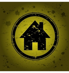 house stamp vector image