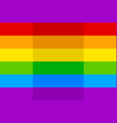 image bright colorful rainbow lgbt flag vector image