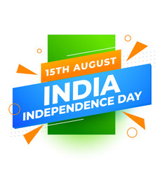 Independence day india modern background vector