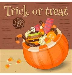 Jack-o-lantern Candy Basket vector