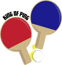 King Of Ping vector image