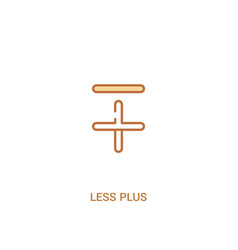Less plus concept 2 colored icon simple line vector