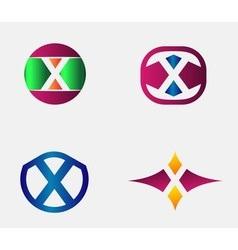 Letter X Logo alphabet design element vector image