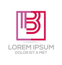 Lettermark b icon vector