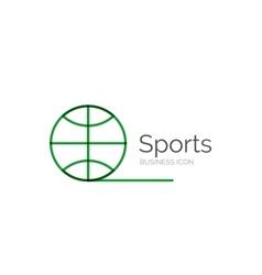 Line minimal design logo ball sports vector image