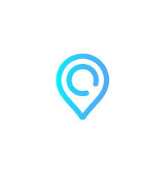 location pin icon sign symbol vector image