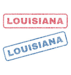 Louisiana textile stamps vector