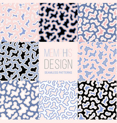 memphis design patterns collection set of 8 vector image