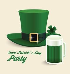 modern design Saint Patricks Day green hat vector image