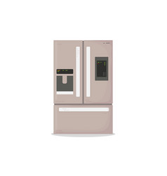 Modern fridge vector