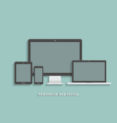 modern technology devices template for responsive vector image