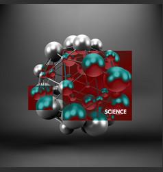 molecule 3d concept template vector image