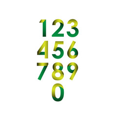 number set template design vector image
