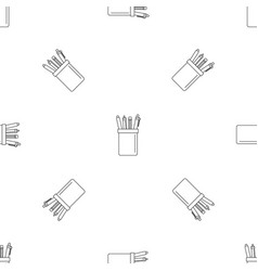 pens set pattern seamless vector image