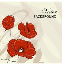 Poppy vector image