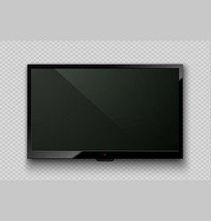 realistic tv led screen isolated on vector image