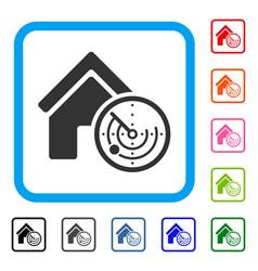 realty radar framed icon vector image