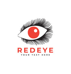 Red eye graphic design template isolated vector