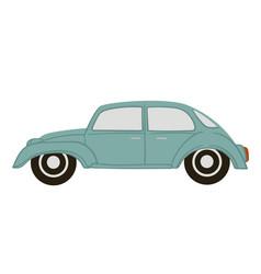 retro car stylish model old transport vector image