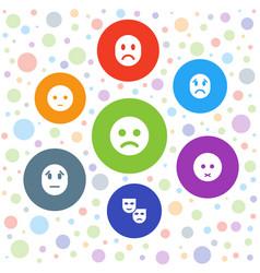 Sadness icons vector