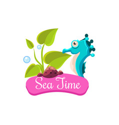 sea time summer vacation vector image