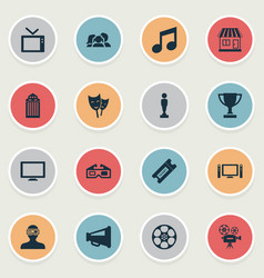 Set simple film icons vector