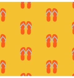 Slippers seamless pattern on yellow background vector image