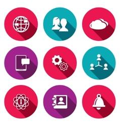 Social icons set vector image