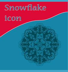Symmetric circular design of snowflake icon vector