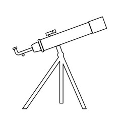 telescope the black color icon vector image