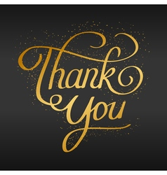 Thank you hand lettering hand drawn text vector