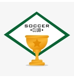 Trophy cup of soccer sport design vector