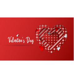 valentines day background abstract heart vector image