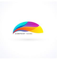 vibrant wavy logo concept vector image